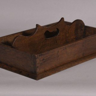 Antique Treen 19th Century Oak Spoon or Letter Tray