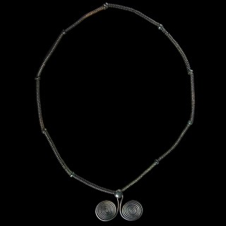 European Bronze Age Necklace with Spiral Pendant