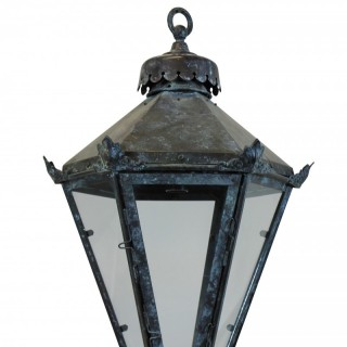 AN ENGLISH TAPERING LANTERN