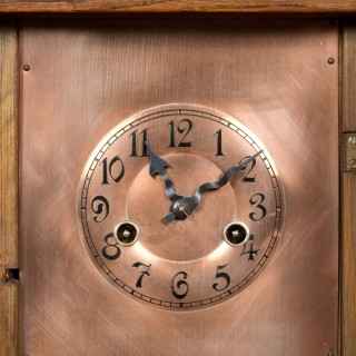 Arts and Crafts Oak Cased Mantel Clock