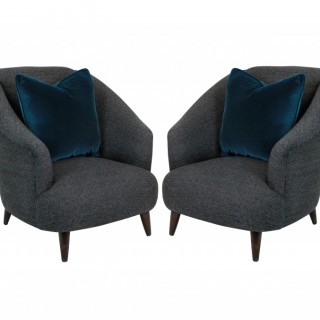 A PAIR OF ULRICH LOUNGE CHAIRS