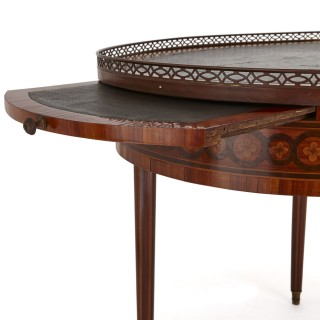 Antique walnut and marquetry writing desk