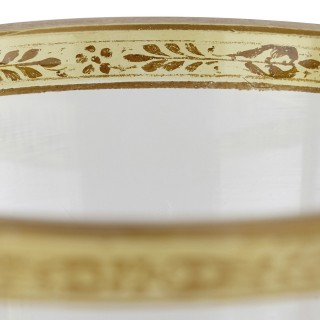 Viennese enamelled and gilded clear glass cup