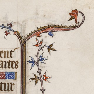 Medieval Book of Hours Leaf with Psalm 66