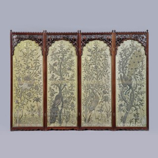 A Fourfold Indian Room Divider