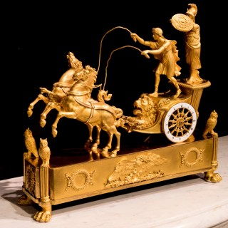 A Figural Empire Clock depicting The Chariot of Telemachus