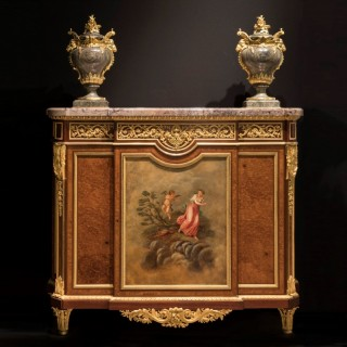 An Important Side Cabinet By Henry Dasson