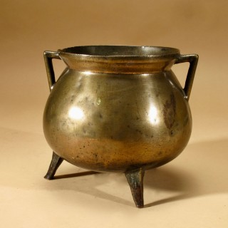 An Early Original Bronze Cauldron Continental 16/17Century.