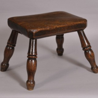 Antique 19th Century Elm and Ash Stool
