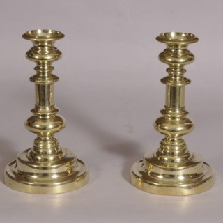 Antique 19th Century Pair of Brass Candlesticks