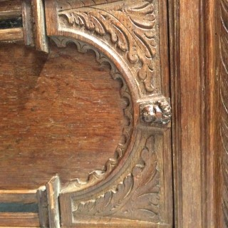 17th century Flemish oak cabinet.