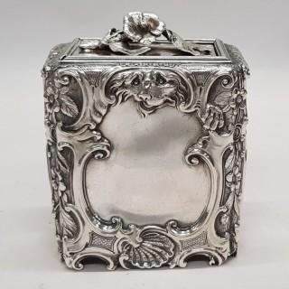 Antique George II Silver Caddy