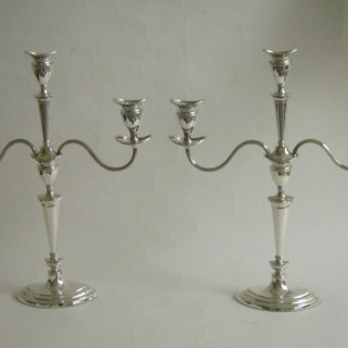 Scottish Antique silver candelabra