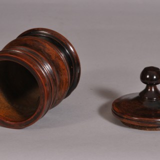 Antique Treen Georgian Plum Wood Spice Pot