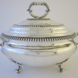 Antique Victorian Sterling silver soup tureen
