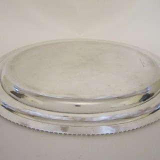 Antique William IV Sterling silver serving dish/meat plate