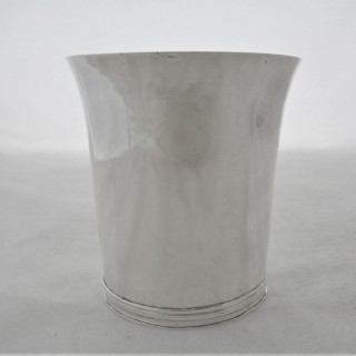 Very rare Commonwealth silver beaker London 1655 by IG