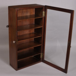 Antique Early 19th Century Mahogany Collector's Wall Cabinet