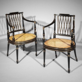 Pair of George III Garforth Armchairs, attributed to Gillows