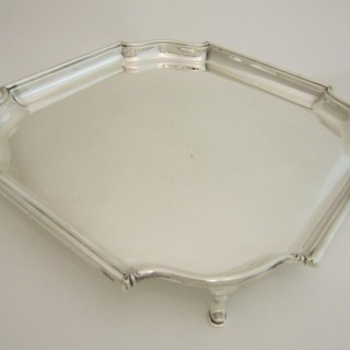 Antique George V Sterling silver salver