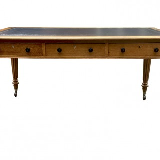 Gillow Antique Oak Partners Library Table