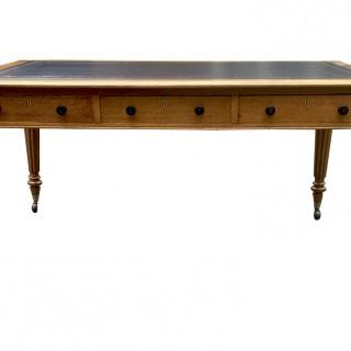 Antique Oak Partners Library Table