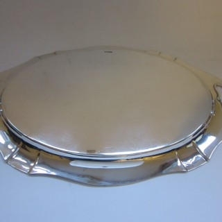 Antique George V Sterling silver tray