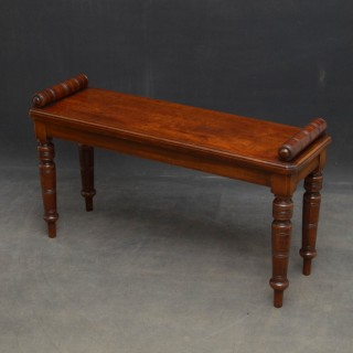 Edwardian Walnut Hall Bench