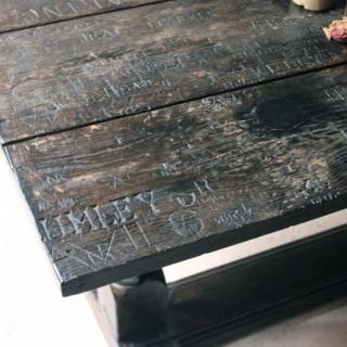 A Unique 19thC Graffitied Oak Refectory Table