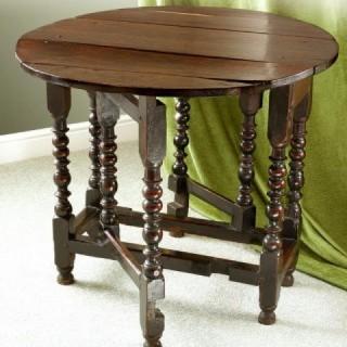 17th Century Oak Gateleg Table