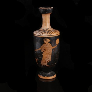 Greek Attic Lekythos Attributed to the Carlsruhe Painter
