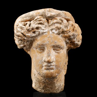 South Italian Greek Terracotta Head