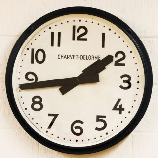 Art Deco French Industrial Wall Clock
