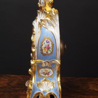 French Porcelain Mantel Clock by Aubert  Klaftenberger, Paris