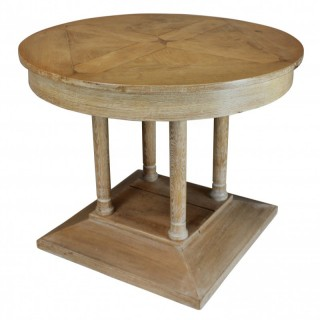 FRENCH 1930'S LIMED OAK CENTRE TABLE