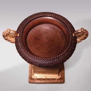 Pair Bronze & Ormolu Tazzas