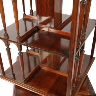 Mahogany Revolving Bookstand