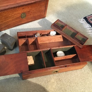 Early 19th Century Fitted Mahogany Military Apothecary's Box