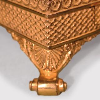Patrick Sandberg Antiques Menu Bronze and Ormolu Pentray with Drawer