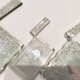 Antique Silver Card Cases