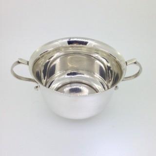 Antique  Silver Porringer