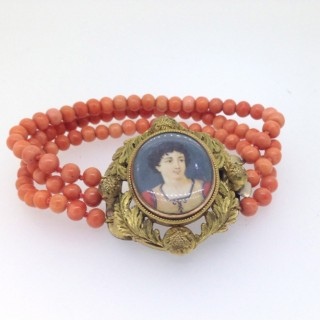 Victorian Coral Bracelet