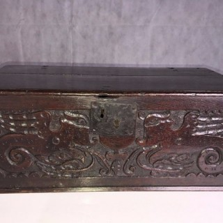 Very Well Carved Bible Box, 17th Century