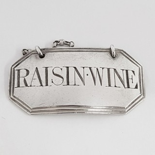 Antique Silver Wine Label