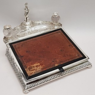 Victorian Silver Plated Inkstand
