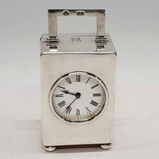 Antique Silver Clock