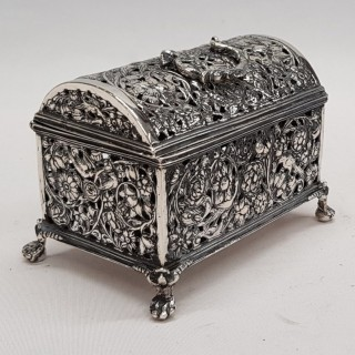 Antique Dutch Silver Marriage Casket