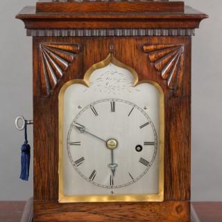Miniature Rosewood Bracket Clock by King, Lynn