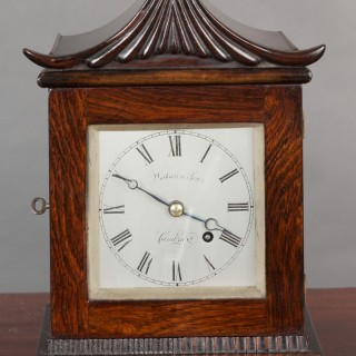 Georgian Miniature Bracket Clock by Watson & Son, Cambridge