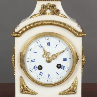 White Marble Mantel Clock